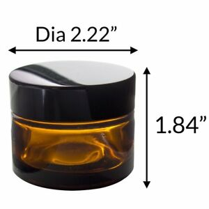 ef856161c008 Details about Amber Glass Balm Jar - 1.35 oz / 40 ml + Spatula ,Label  (1,2,3,4,6 packs)
