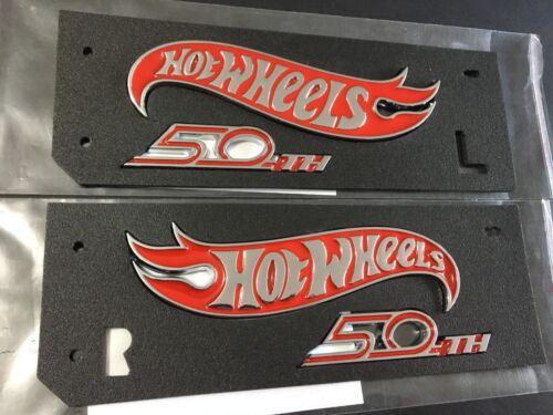 Camaro Hot Wheels 50th Anniversary 2018 Front Fender Emblem R L Chrome Red