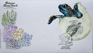 Malaysia FDC with Miniature Sheet (18.06.2020) - Iconic Marine Life