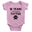18 Years Until My First Tattoo Babygrow Cool Funny Dad Present New Baby Gift