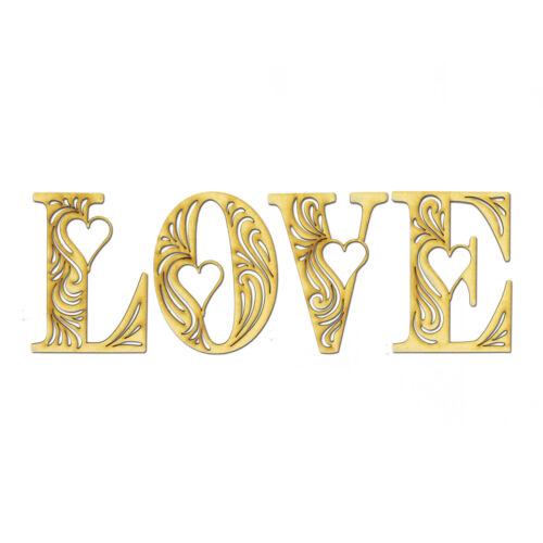 "Filigree Word /""Love/"" Valentine Scrapbook Card Craft Laser cut from 3mm MDF Wood"