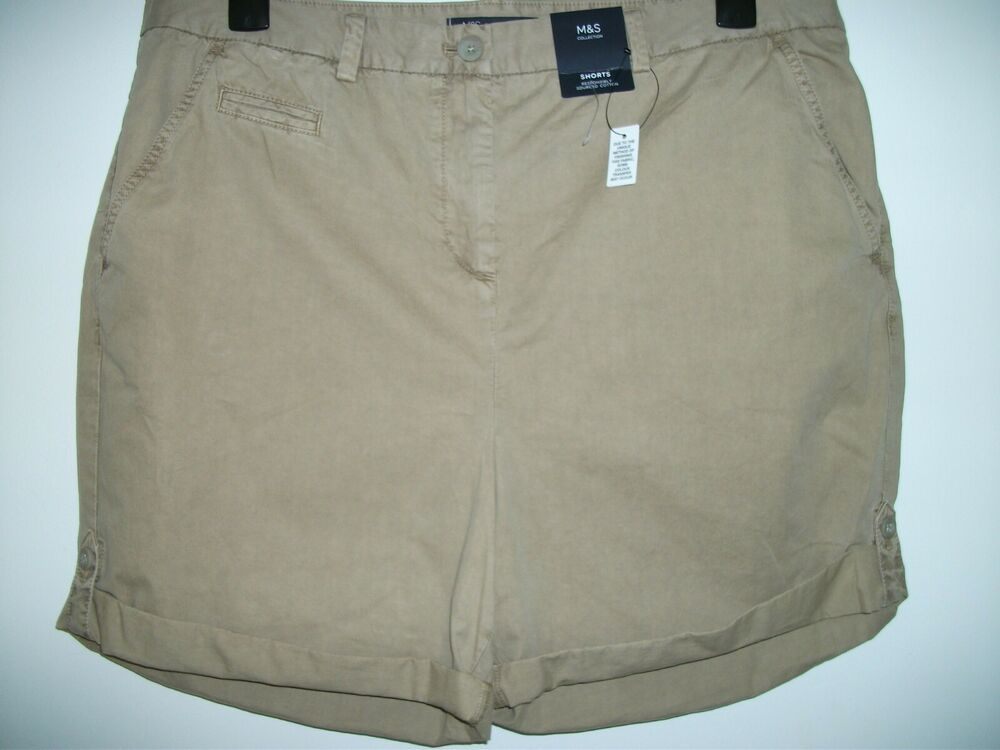 Aimable M&s Collection Femmes Short Avec Revers Taille 18 Bnwt