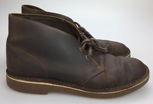 93da654d1f9 Details about Clarks Bushacre 2 Beeswax Brown Oiled Leather Chukka Desert  Boot Men's Size 12