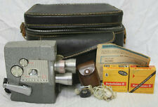 VINTAGE WOLLENSAK MOVIE CAMERA MODEL 43 WITH CAMERA BAG AND FILM