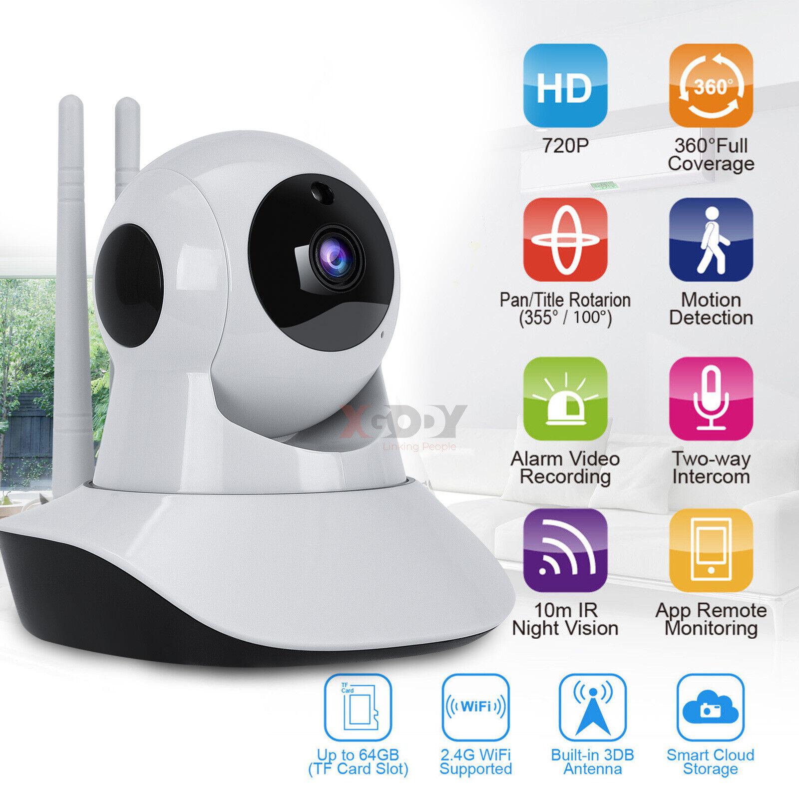 WIFI Cámara de Seguridad IP Inalámbrica Vigilancia Nocturna de la rojo de 720P HD