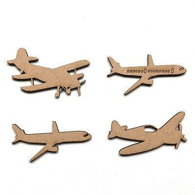 Aeroplane//Plane wooden mdf crafts shape embellishment plane gift idea/'s