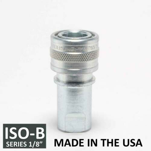 """ISO 7241-1 B 1//8/"""" ISO-B Hydraulic Hose Quick Disconnect Coupler Steel"""