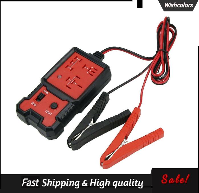 12V Automobile Relay Tester 4-Pin 5-Pin Car Relay Analyzer Car Battery Checker