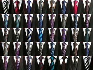 New-Classic-Paisley-JACQUARD-WOVEN-100-Silk-Men-039-s-Tie-Necktie-Wedding-Party