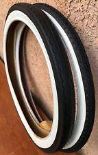 16x1-3//4 S-7 Front /& 20x2.125 S-2 Rear Slick Schwinn Stingray Krate Bike Tires
