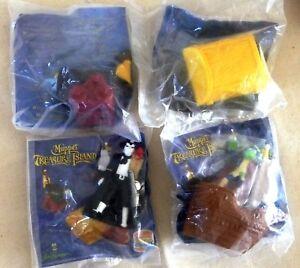 100% Vrai Lot De 4 Jouets Muppet Treasure Island / Burger King Kids / Sous Blister / 1996