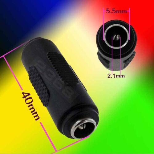 10 Pack CCTV Power Cord Coupler 2.1mm DC Female to Female