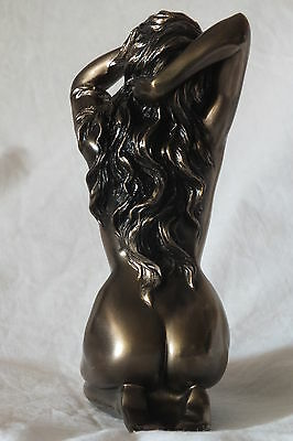 akt,figur,frau,14,5x10cm,aktfigur,skulptur,deko,bronziert,frauenakt,erotik,