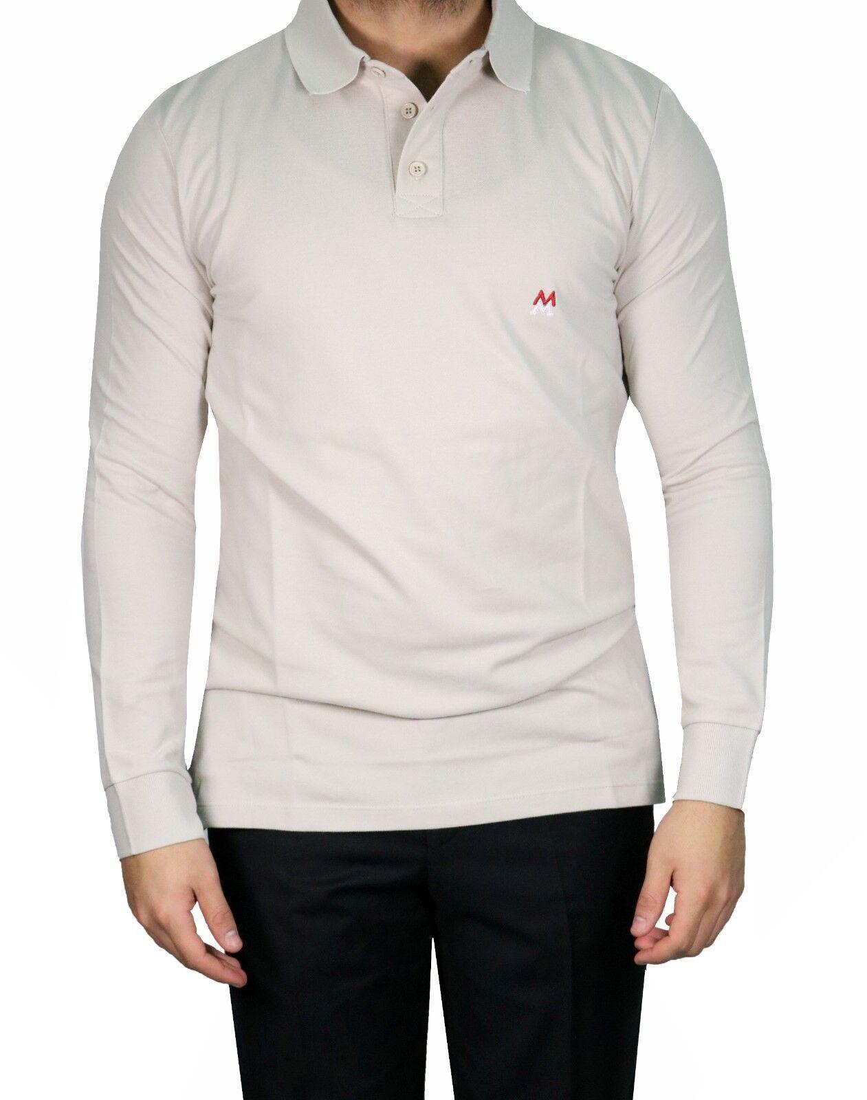 Lang Arm Arm Arm Herren Polo shirt Gr.S Beige   Qualität Produkte    Vorzugspreis  2156b2