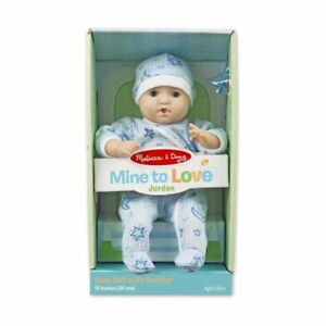 Details About Melissa Doug Mine To Love Jordan 12 Inch Soft Body Baby Doll 31712