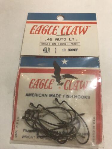 packs of EAGLE CLAW hooks Size 1 3 style: 45LA bronze