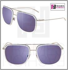 8032c8a0273 DOLCE   GABBANA Sport Silver White Matte Blue Mirrored DG2165 Sunglasses  2165
