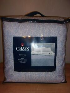 Chaps Home Derrymore Blue And Gray Floral 3pc King Comforter Set Nip 886087368253 Ebay