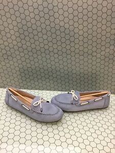 NIB-Vionic-HONOR-VIRGINIA-Blue-Leather-Slip-On-Moccasin-Loafers-Women-039-s-Size-10