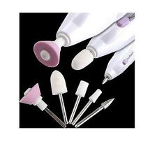 KIT FRESA ELETTRICO SALON SHAPER 5 PUNTE INTERCAMBIABILI MANICURE PEDICURE TV