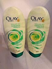 2 OLAY Luminous Body Wash Plus RADIANCE RIBBONS, 18 FL OZ by Olay.