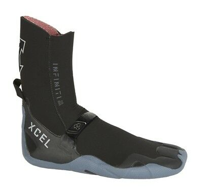 11 Xcel Infiniti Round Toe 8mm Surf Boots Black/gray
