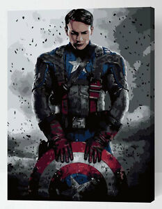Painting-by-Numbers-kit-Captain-America-Superhero-Super-Hero-Strong-Man-ML7193