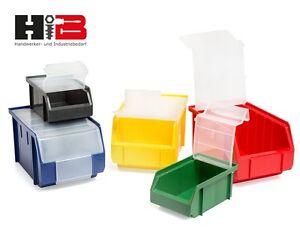 lagerboxen mit deckel made in germany verschiedene mengen farben zur wahl ebay. Black Bedroom Furniture Sets. Home Design Ideas