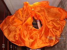 """plain green 3yd*45/"""" belly dance silk veil+bag edges rolled light 5mm silk"""
