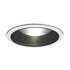 """6/"""" Recessed Lighting White Trim With Black Baffle NEW IN BOX HALO 410P"""