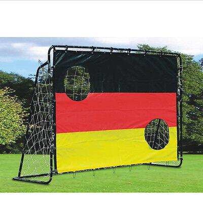 Fußballtor Fußballnetz mit Tornetz  213X150X75cm mit Torwand Deutschland TOP