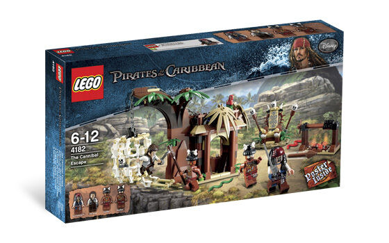 LEGO Pirates of the Caribbean 4182 The Cannibal Escape *RETIrosso SEALED*