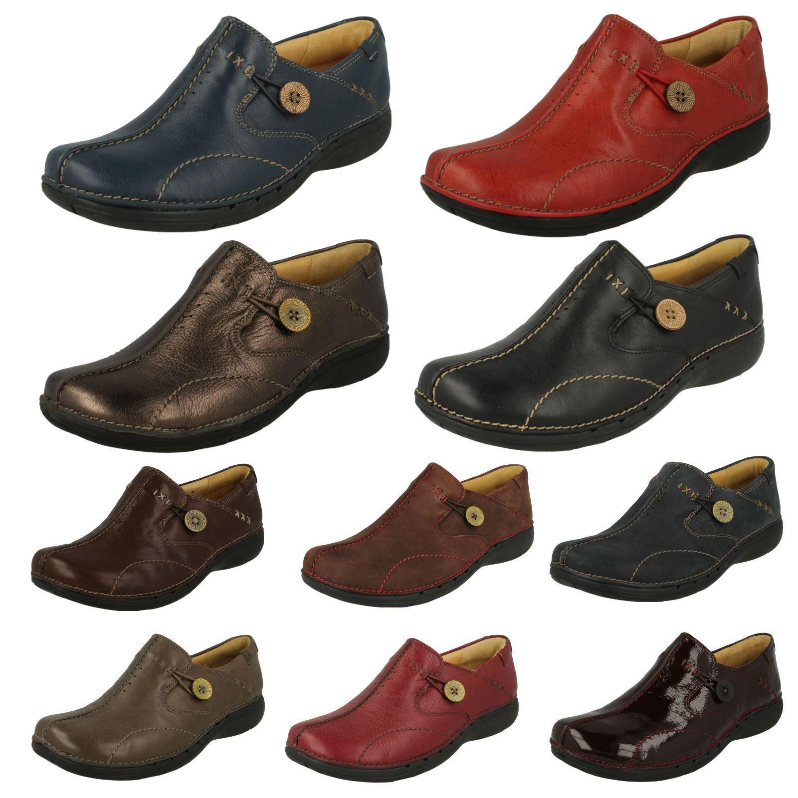 Zapatos casuales salvajes Descuento por tiempo limitado Ladies Clarks Un Structured Slip On Shoes 'Un Loop'