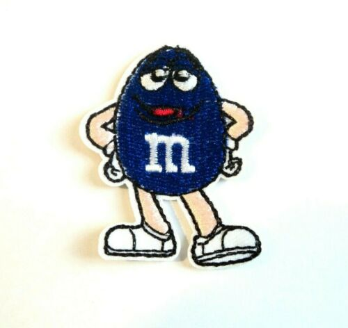 Cute M/&M Chocolate Patches Embroidered Cloth Badge Applique Iron Sew On