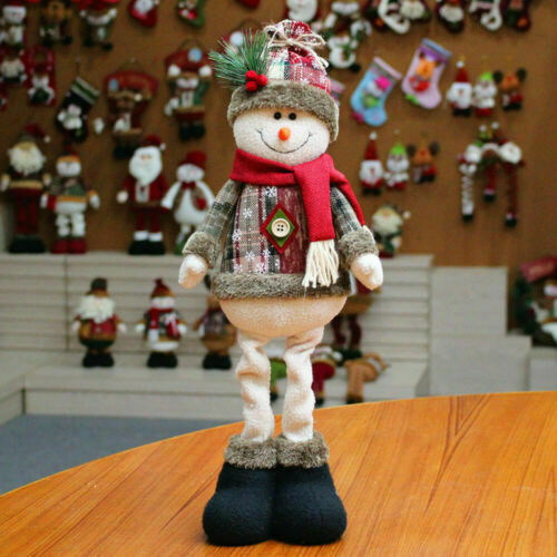 Christmas Ornaments Gift Santa Claus Snowman Reindeer Toy Doll Hang Party Decor