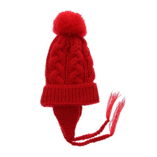 Kinder Baby Winter warme Strickmütze Mütze Jungen Mädchen Pom Bobble Caps Ohr