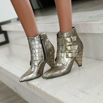 Details about  /Women/'s Fashion Tassels Pointy Toe Super High Heel Winter Ankle Boots 45 46 47 L