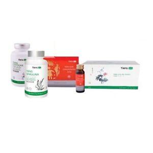Tiens-saludable-conjunto-de-estomago-fecha-de-lipidos-Te-quitosano-concentrado-Spirulina-zumo