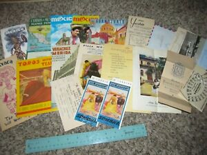 Lot-of-1950s-Mexico-Brochures-Maps-Menu-039-s-and-more