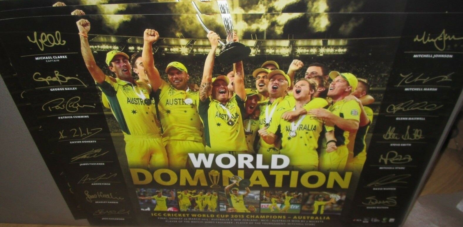 Australia 2015 World Cup Champions    Limited Edition print with signatures