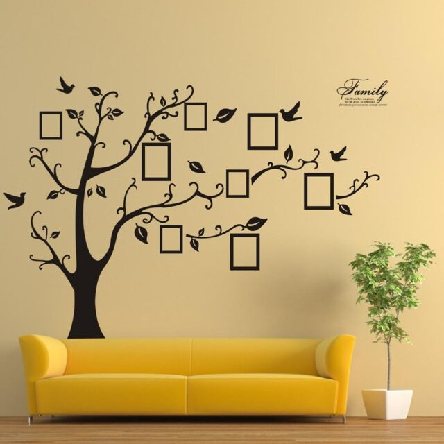 Picture Frame Tree Wall Decor Decal Sticker Removable DIY Home ...