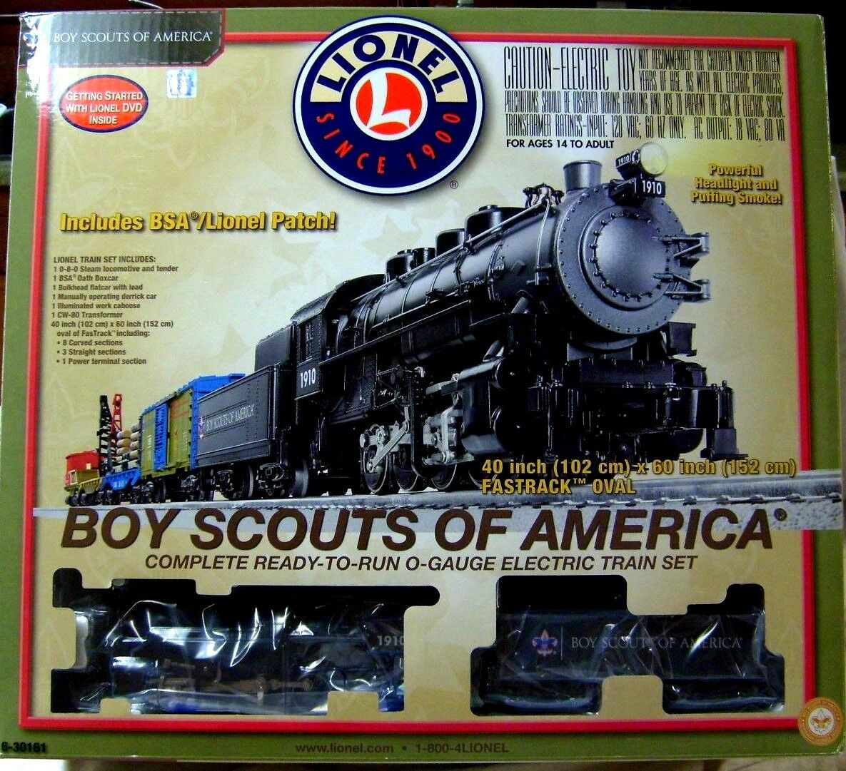 LIONEL 6-30161 6-30161 6-30161 BOY SCOUTS OF AMERICA TRAIN SET         NEW 4e768b