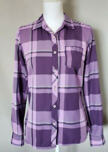 The-North-Face-Womens-Purple-Plaid-Button-Up-Shirt-Size-S
