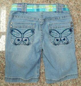Raccogliere ultima selezione del 2019 vendita calda genuina CRB CANYON RIVER BLUES girls Blue Denim BLING BUTTERFLY Shorts* 7 ...