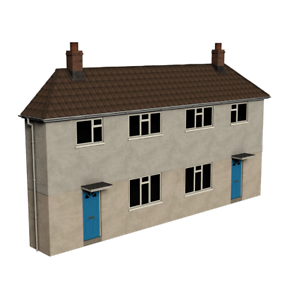 Bachmann-44-0202-OO-Gauge-Low-Relief-Municipal-Reinforced-Concrete-Houses