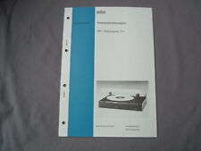 Service Anleitung BRAUN P 2 deutsch Service Manual Technische Information