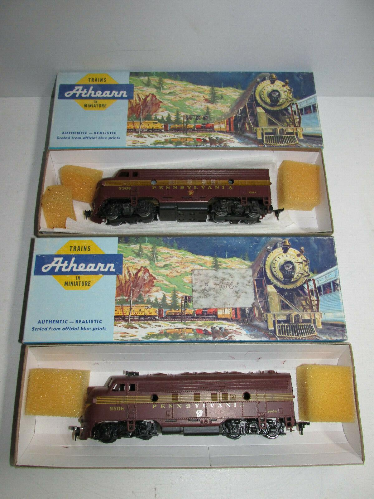 Athearn Spur h0 doble diesellok de la  Pennsylvania  3025 bn 9506 y 3005 OVP