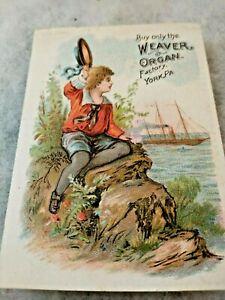 Victorian Trade Card Weaver Organ Factory York Pennsylvania