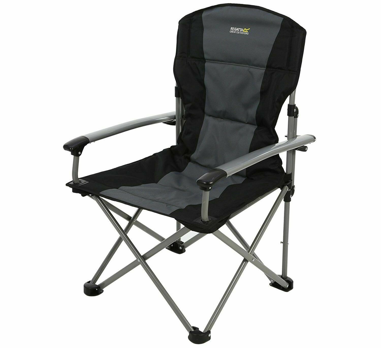 Regatta Forza Chair Campingstuhl bis 150kg belastbar feste Ar ehne