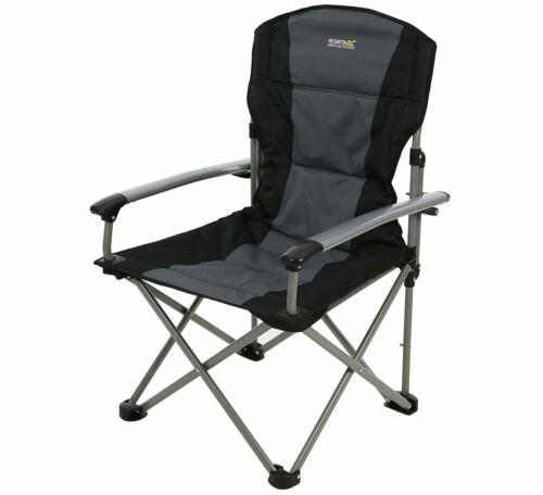 Regatta forza Chair silla de camping hasta 150kg resistentes fijos apoyabrazos PVP 79,95 €